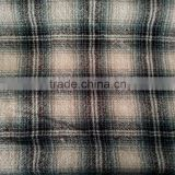 new arrival yard dyed woven fabric wool commixed fabric check plaid pattern double layer