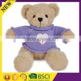 Baby toy fashion design christmas gift wholesale winter warm lovley knitted bear clothes
