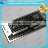 Chemical Engraved Reliable Fine Stainless Steel Metal Label
