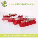 Factory price printing broom head better quality warm hold red cleaning brush plastic soft broom