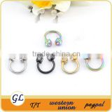 14 Gaug with Dice Top Anodized Titanium Segment Ring Titanium Segment Ring Body Jewelry BCR