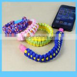 22 cm colorful manual weaving braided bracelet micro-5pin charge and sync data cable                                                                         Quality Choice