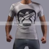 New Arrival Men Marvel Superhero Compression T Shirt Quick Dry Running Gym Fitness Tights for Male