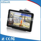 High resolution 800*480 free map smart 7 inch car gps navigation multimedia with bluetooth