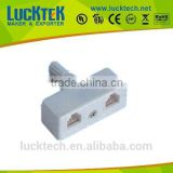 UK PLUG TO 2xUSA JACK RJ11 ADAPTER