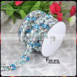 2014 newest Capri Blue crystal cup chain,rhinestone cup chain is made of tear drop and square shaped rhinestone for dress                                                                         Quality Choice