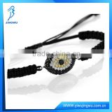 Black Rope With Diamond Evil Eye 925 Silver Bracelet Design