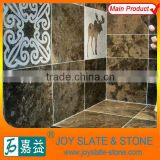 Polished finish with sandblasted pattern beautiful decor stone for cladding and flooring