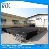RK Matched stairs portable stage curtain stand collapsible stage sound system for disco