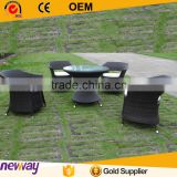 Charlotte Outdoor Comfortable Garden Leisure Rattan Furniture Coffee Table and Chairs Luxury Dining Set