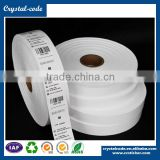 Blank wash care resin heat resistance sew on name resin washable ribbon for fabric label