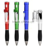 Multi-function tool nail cutters ball point pen with LED flash light