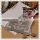 Silvery Ace Mirror Acrylic Invitation For Wedding Decorative Cards