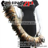 CHINAZP Factory Wholesale Good Quality Dyed Natural Brown Half Bronze Rooster Schlappen Feathers Strung