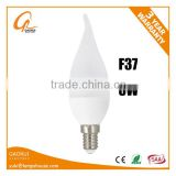 C37 Led bulb with tail 3W Candle light white color daylight replace incandescent bulb