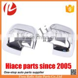 Toyota hiace KDH 200 chrome side mirror cover with blue yellow color turn light auto body parts