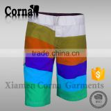 Custom design colorful polyester full sublimation mens board shorts surf swim boardshorts