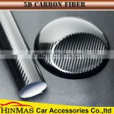 super glossy 5D black carbon fiber with car holographic rolls wholesale 3d car vinyl wrap