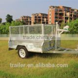6x4ft Hot Dipped Galvanized Fully Weld Single Axle Trailer With Steel Cage Used For Farm