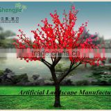 3M red color peach blossom tree brightness led trees for christmas,wedding,party decoration
