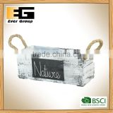 Outdoor Wooden Artificial Plants Flower Pots
