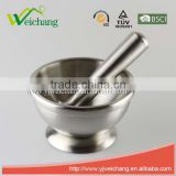 WCJ524 Premium Food safety Stainless Steel Kitchen tools MORTAR PESTLE SET