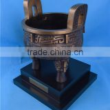 China style bronze tripod artwork/Chinese Classical Bronze tripod sculpture/Bronze Decoration