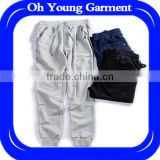Manufacturer china high quality tonal-blue slim-leg jersey mens sports track pants