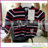 New types fashion hand knitted baby girls breathable cardigan sweater with embroider