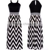 Wholesale Backless Sexy Women Summer Maxi Dress 2015 maxi dress factory manufacturer evening party dress club dress zigzag dress