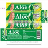 Aloe toothpaste, whitening toothpaste 55g ingredients wholesale factory in China