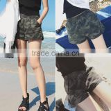 Hot selling newest women gym shorts camo sublimation printed compression shorts elastic band fitness wear running shorts