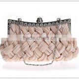R0027H Hot-selling fashion knitted fold ladies party clutch bag