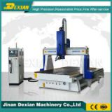 DX 1530 4 axis cnc router , 4th axis cnc foam cutting machine, wood engraving machine for sale