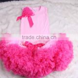 Wholesale Kids Girls Super Fluffy Skirt Chiffon Pettiskirts Tutu Suit Newborn Baby Girls Petticoat Dress Boutique Outfits Party