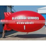 red inflatable helium blimp Airship (cube or balloon) for advertising use with customized logos