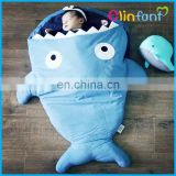 new design hot sale cotton baby shark sleeping bag