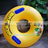 42 inch PVC Yellow color Inflatable Swimming Ring water park tube for water park slide use