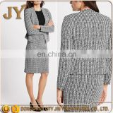 2017 OEM Service Long Sleeve Women Loose Fit Textured Jersey Jackets JY-4AB001