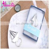 A08G11 2014 Sailing Boat Silver Stock Market Cheap Wedding Souvenirs Items