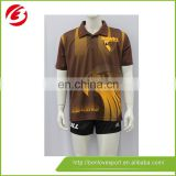 China Manufacture Vertical Striped Polo Shirts