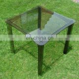 square modern durable pmma plexiglass acrylic perspex garden dinner table