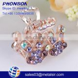 Promotional gift fashion jewelry women hair claw clip, cheap item multicolor and multishaped hair clip