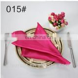 100% polyester satin wedding decorative napkin