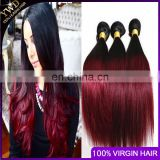 100% human ombre hair red human hair weaving, brazilian ombre weave hair, human hair weave ombre hair