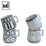 Personalized pattern decal wholesale chaozhou pottery ceramic mugs / stoneware mug