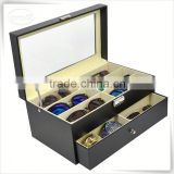 Luxury handmade cumstermized pu leather brand sunglasses with original box                                                                                                         Supplier's Choice