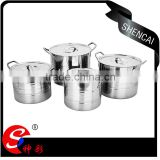 Caitang Chaozhou Stainless steel stock pot set/ hot pot casserole/ tall soup pot