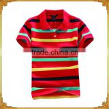 Classical Striped Ladies racing Polo Shirt For bulk Wholesale