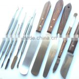 ZAHLE LECRON BEALE CARVER WAXING PLASTER & ALGINATE MIXING SPATULA KNIVES SET